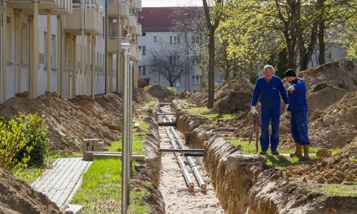 Bauprojekt-Blockheizkraftwerk