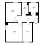 Beispielgrundriss Am Volkspark Friedrichshain, 2,5-Zimmer-Wohnung ohne Balkon, Wohnfläche ca. 53 m²