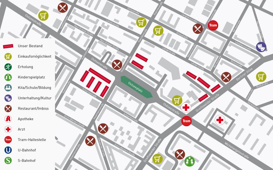Lageplan Am Ostseeplatz