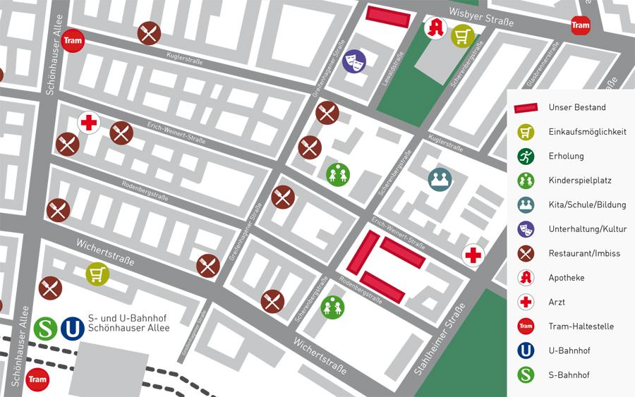 Lageplan Dichter Viertel