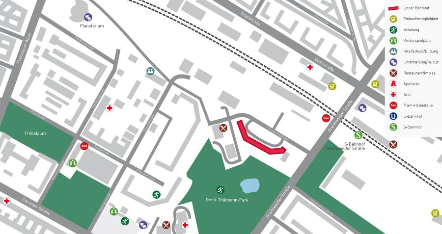 Lageplan Thälmannpark