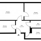 Beispielgrundriss Am Ostseeplatz, 2,5-Zimmer-Wohnung ohne Balkon, Wohnfläche ca. 55 m²